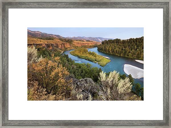 Snake River - Heise Road Framed Print by David Halter