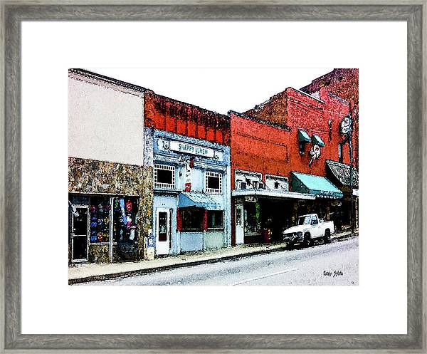 Snappy Lunch Framed Print