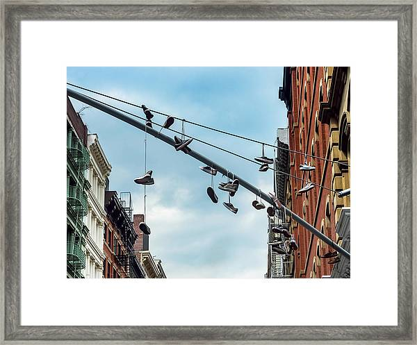 Sneakers From Up Above Framed Print