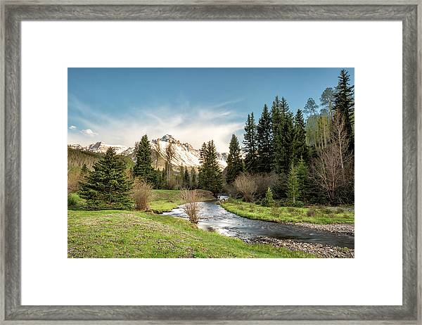Sneffels And Spring Stream Framed Print