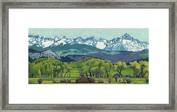 Sneffels Range Spring Framed Print