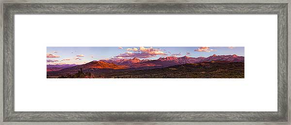 Sneffel's Range Sunset Framed Print