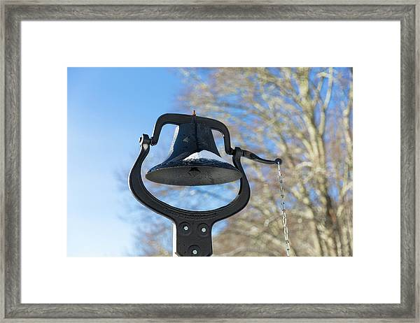Framed Print featuring the photograph Snow Covered Bell by D K Wall