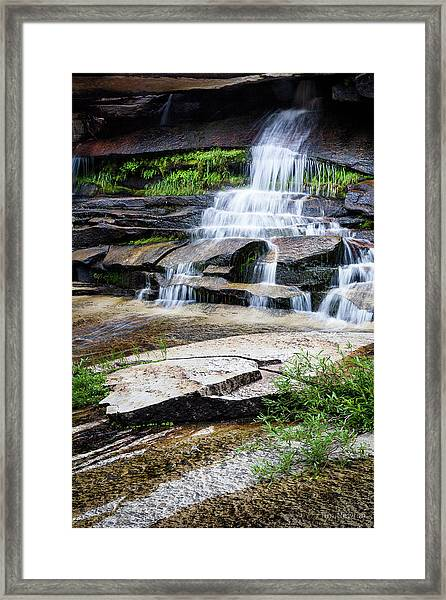 Snow Creek Cascade Framed Print