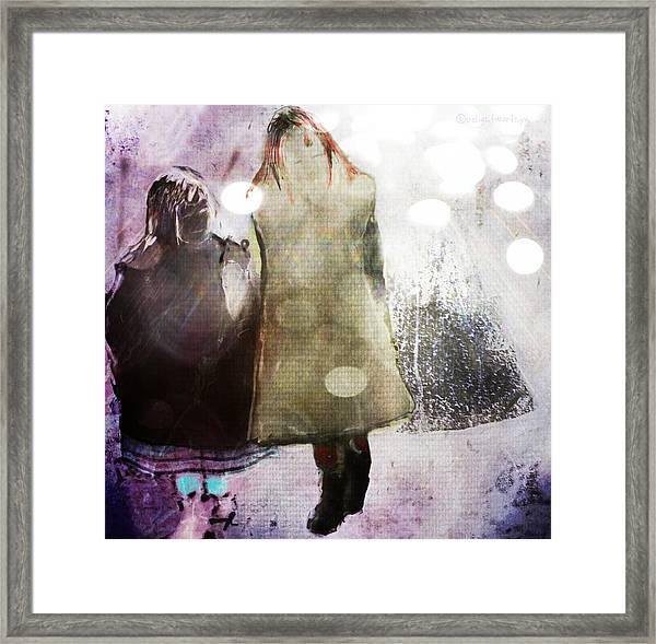 Snow Day Framed Print