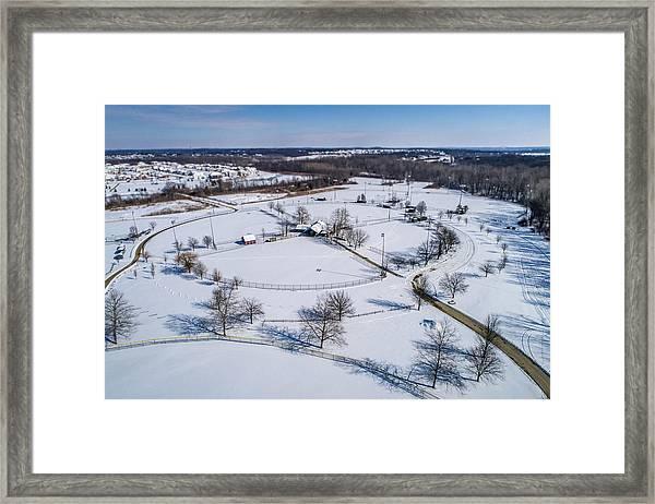 Snow Diamonds Framed Print