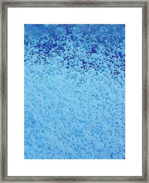 Snow Droplets  Framed Print