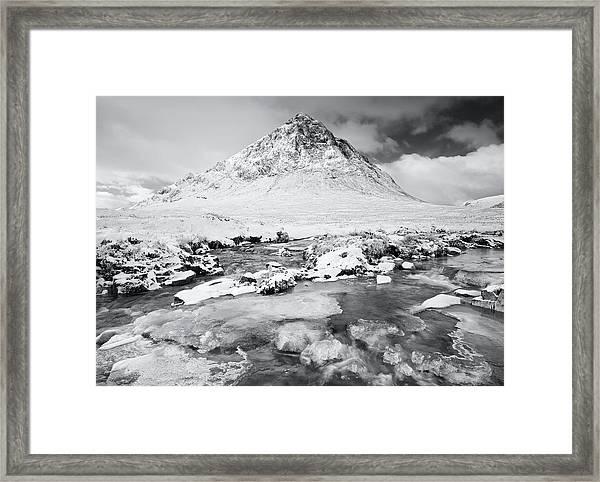 Snow In Glencoe Framed Print