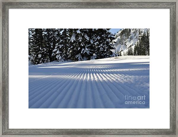 Snow Is Groovy Man Framed Print