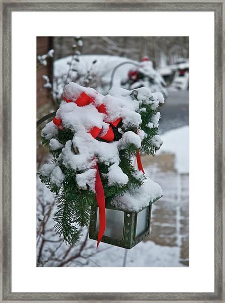 Snow Latern Framed Print