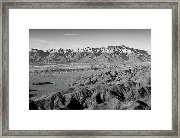 Snow Line Framed Print