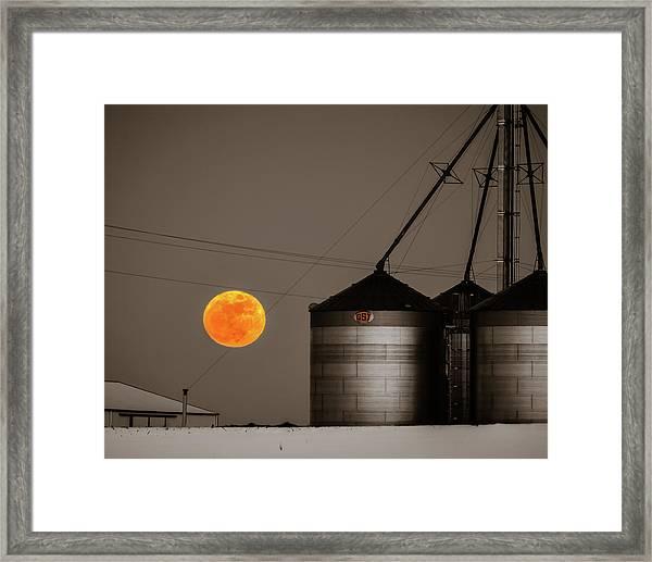 Snow Moon Rising Framed Print