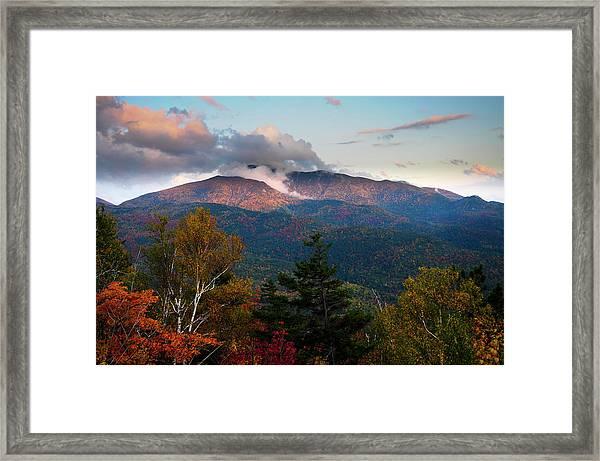 Giant Mt Sunset Framed Print