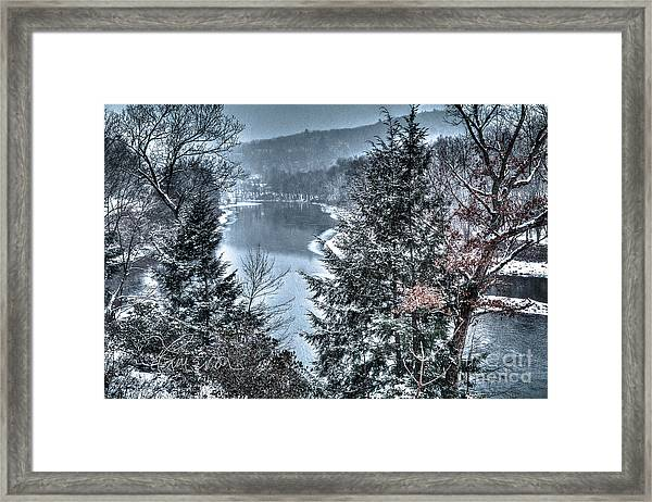 Snow Squall Framed Print