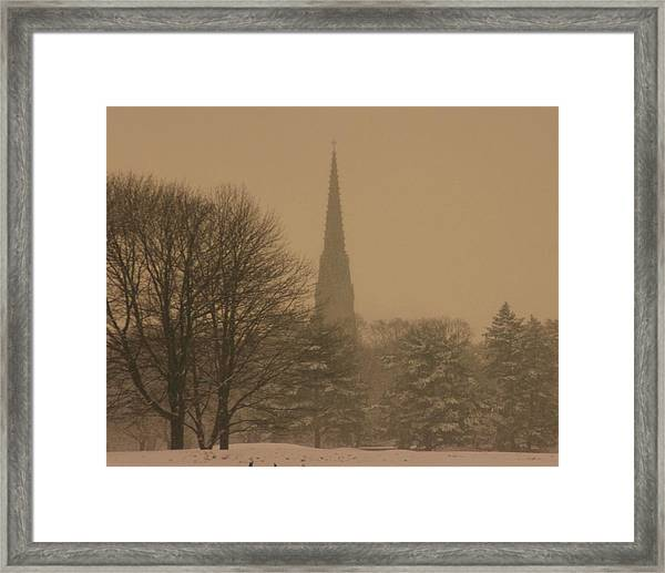 Snow Storm Framed Print by Dennis Curry