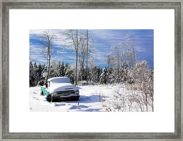 Snow Truck Framed Print