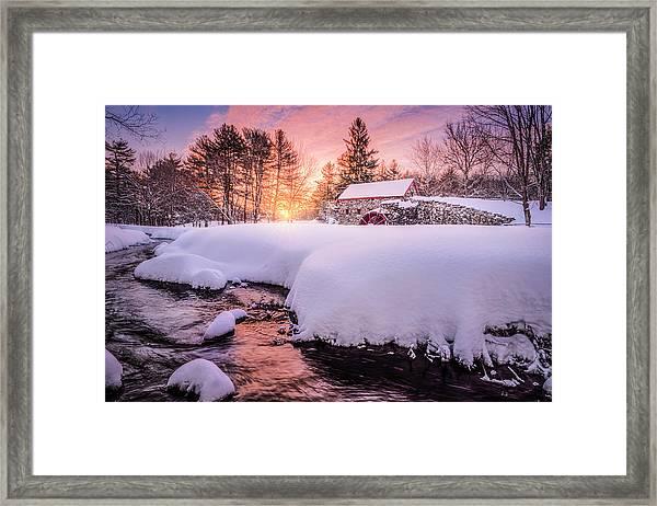 Snowbound Dawn Framed Print