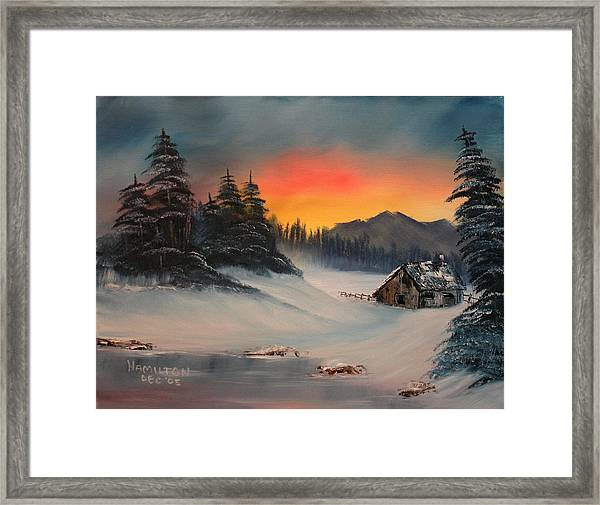 Snowbound Sunrise Framed Print