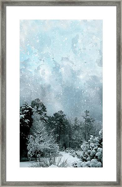 Framed Print featuring the digital art Snowfall by Gina Harrison