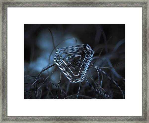 Snowflake Photo - Almost Triangle Framed Print