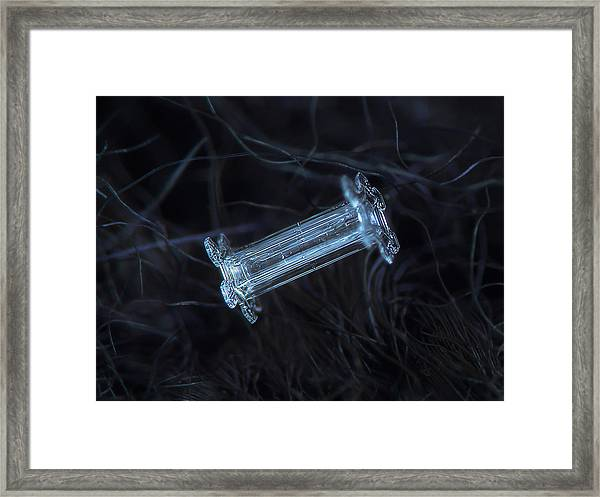 Snowflake Photo - Capped Column Framed Print