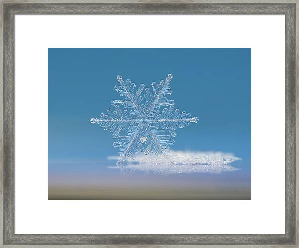 Snowflake Photo - Cloud Number Nine Framed Print
