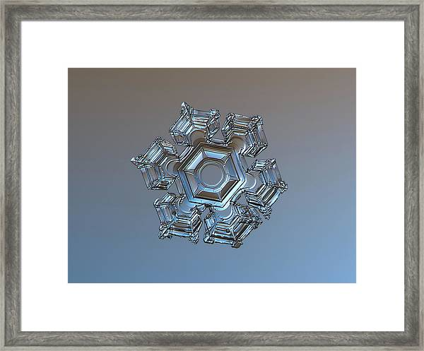 Snowflake Photo - Cold Metal Framed Print