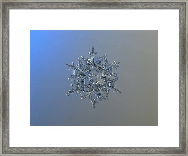 Snowflake Photo - Crystal Of Chaos And Order Framed Print