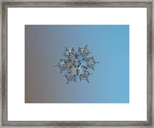 Snowflake Photo - Flying Castle Framed Print