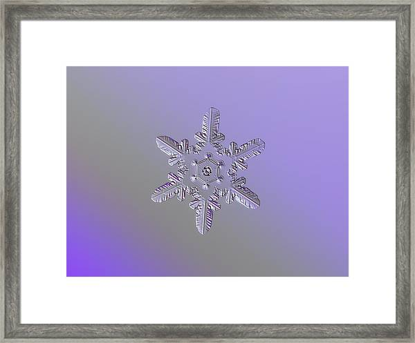 Snowflake Photo - Heart-powered Star Framed Print