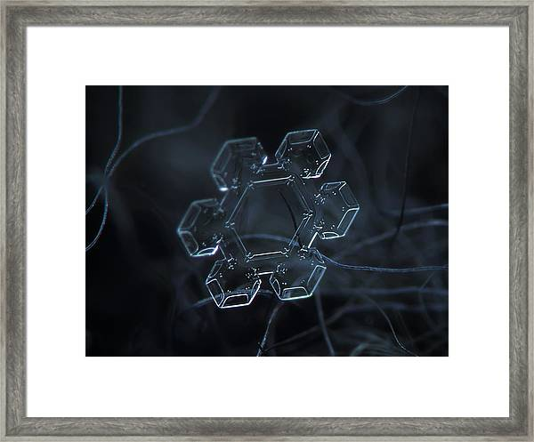 Snowflake Photo - Jewel Framed Print