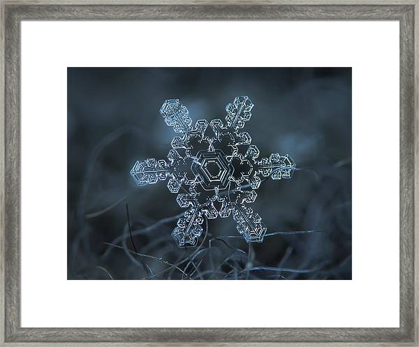 Snowflake Photo - Slight Asymmetry Framed Print
