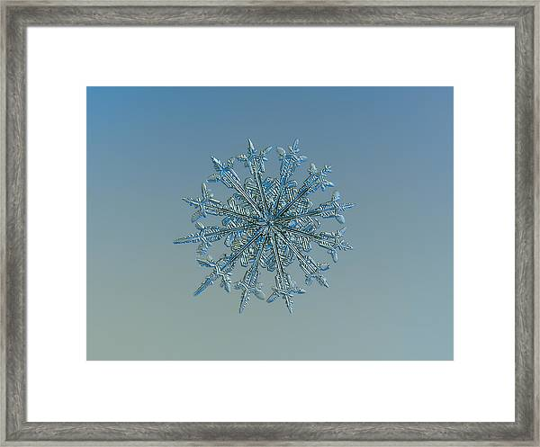 Snowflake Photo - Twelve Months Framed Print