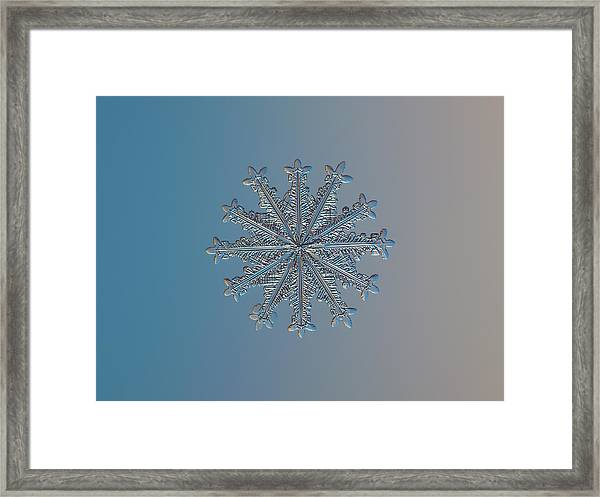 Snowflake Photo - Wheel Of Time Framed Print
