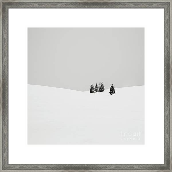 Snowscapes   Almost There Framed Print