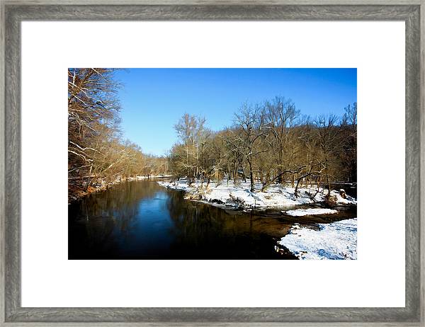 Framed Print featuring the photograph Snowy Creek Morning by William Jobes