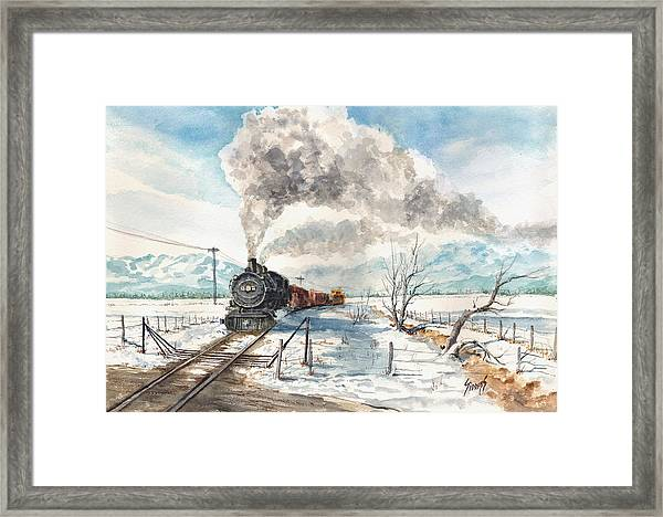 Snowy Crossing Framed Print