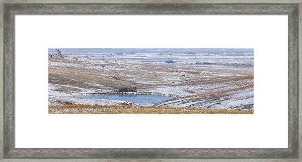 Framed Print featuring the photograph Snowy Hills 2 by Rob Graham