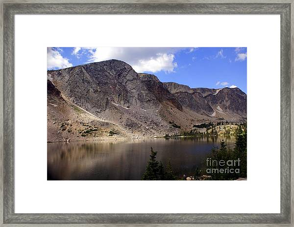 Snowy Mountian Loop 8 Framed Print