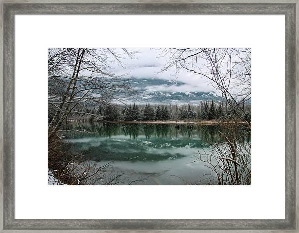 Snowy Reflection Framed Print