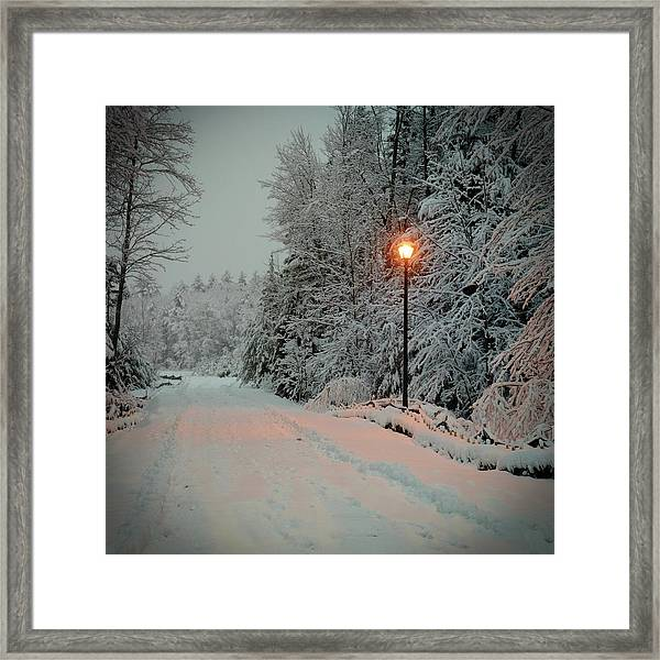 Framed Print featuring the photograph Snowy Road by Samuel M Purvis III