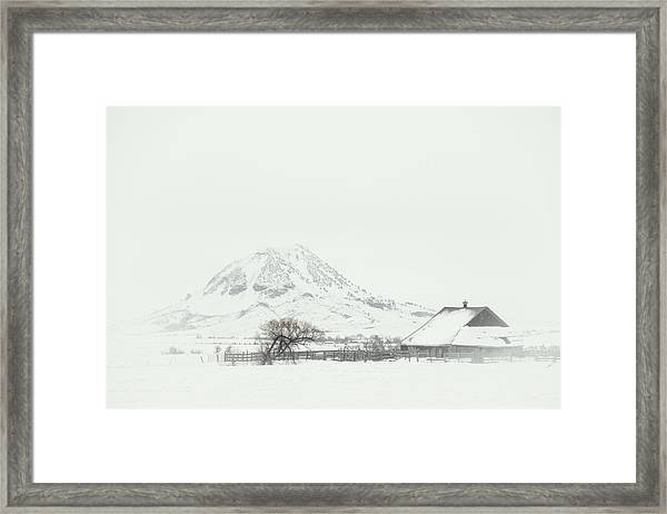 Snowy Sunrise Framed Print