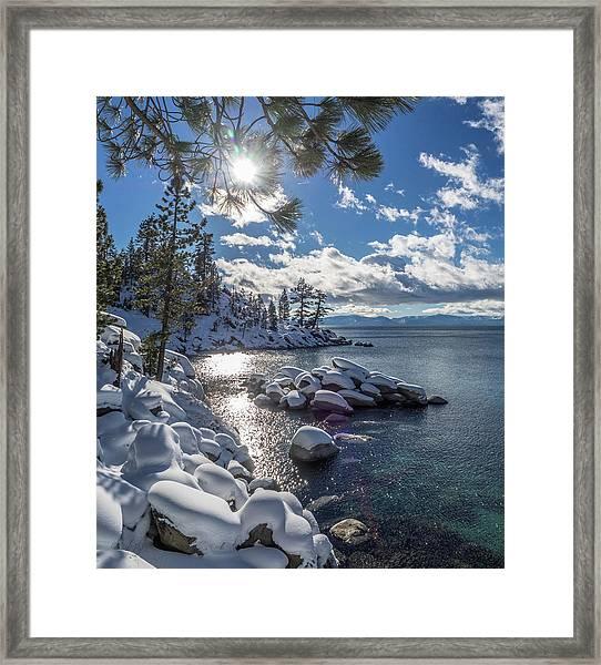 Snowy Tahoe Framed Print
