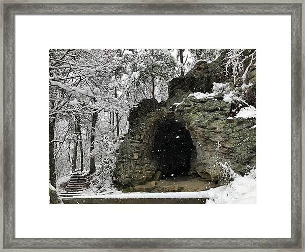 Snowy Torys Den Framed Print
