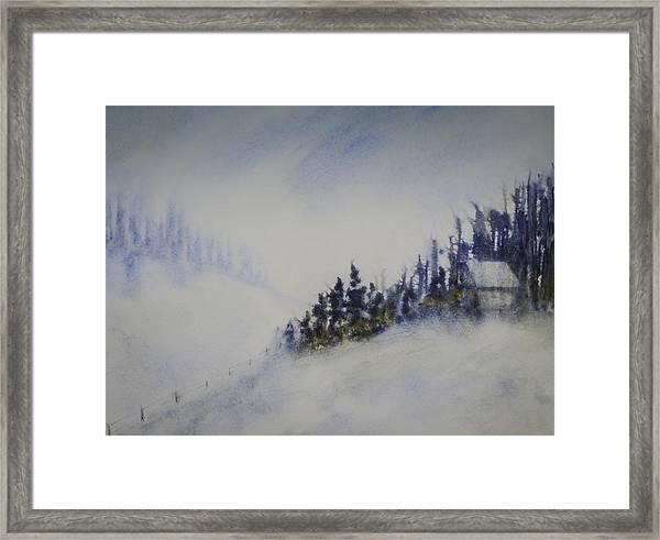 Snowy Winter Framed Print