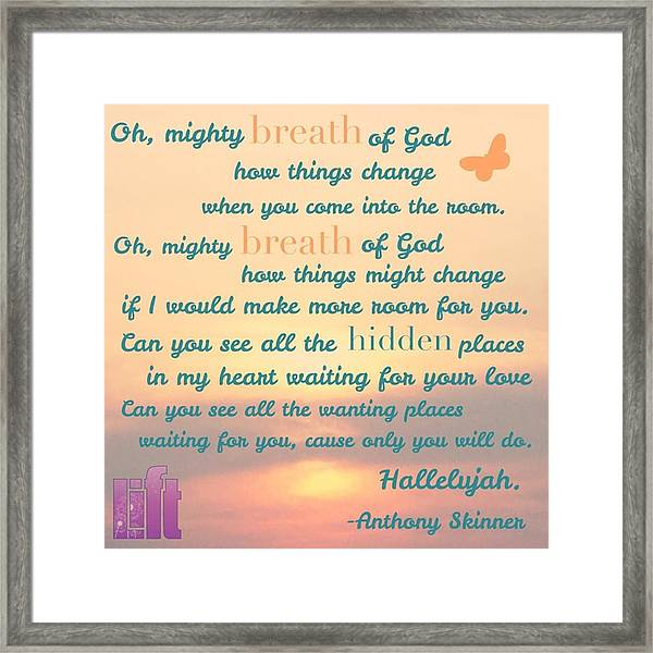 So Jesus Said To Them Again, peace Be Framed Print