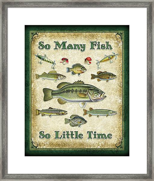 So Many Fish Sign Framed Print