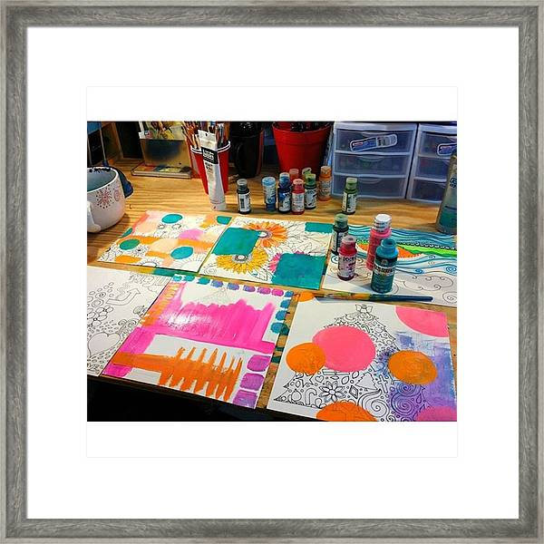 So Today I Am #experimenting With A Few Framed Print