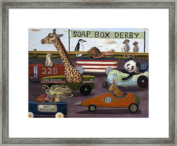 Soap Box Derby Framed Print