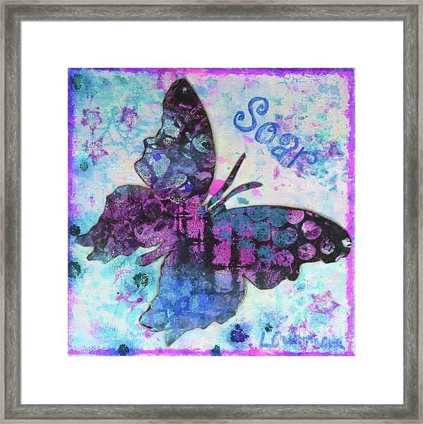 Soar Butterfly Framed Print